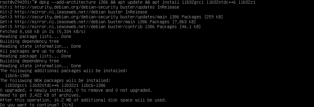 dpkg --add-architecture i386