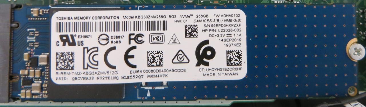 SSD M.2 TOSHIBA KBG30ZMV256G